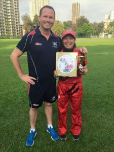 Shizuka with MVP award in Game 2 (with Charlie Burke)_R