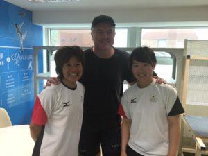 Shizuka & Mai with Stuart MacGill